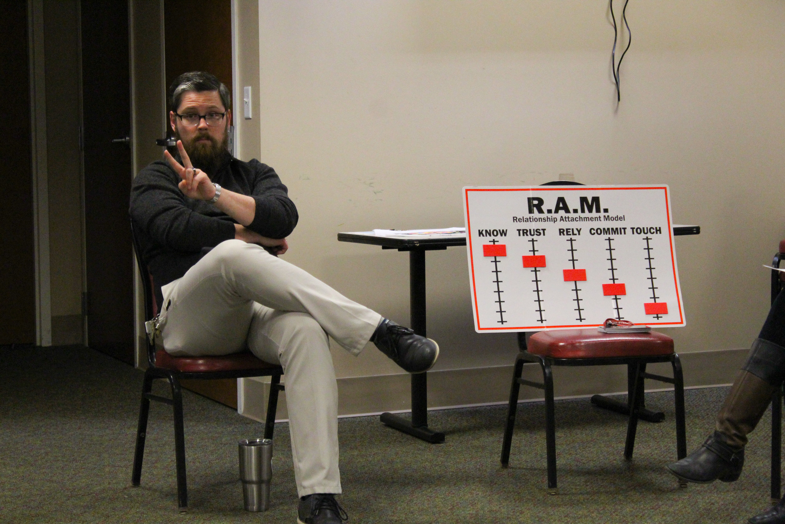 Mr. Thomas describes the R.A.M. model and how it relates to dating during college.