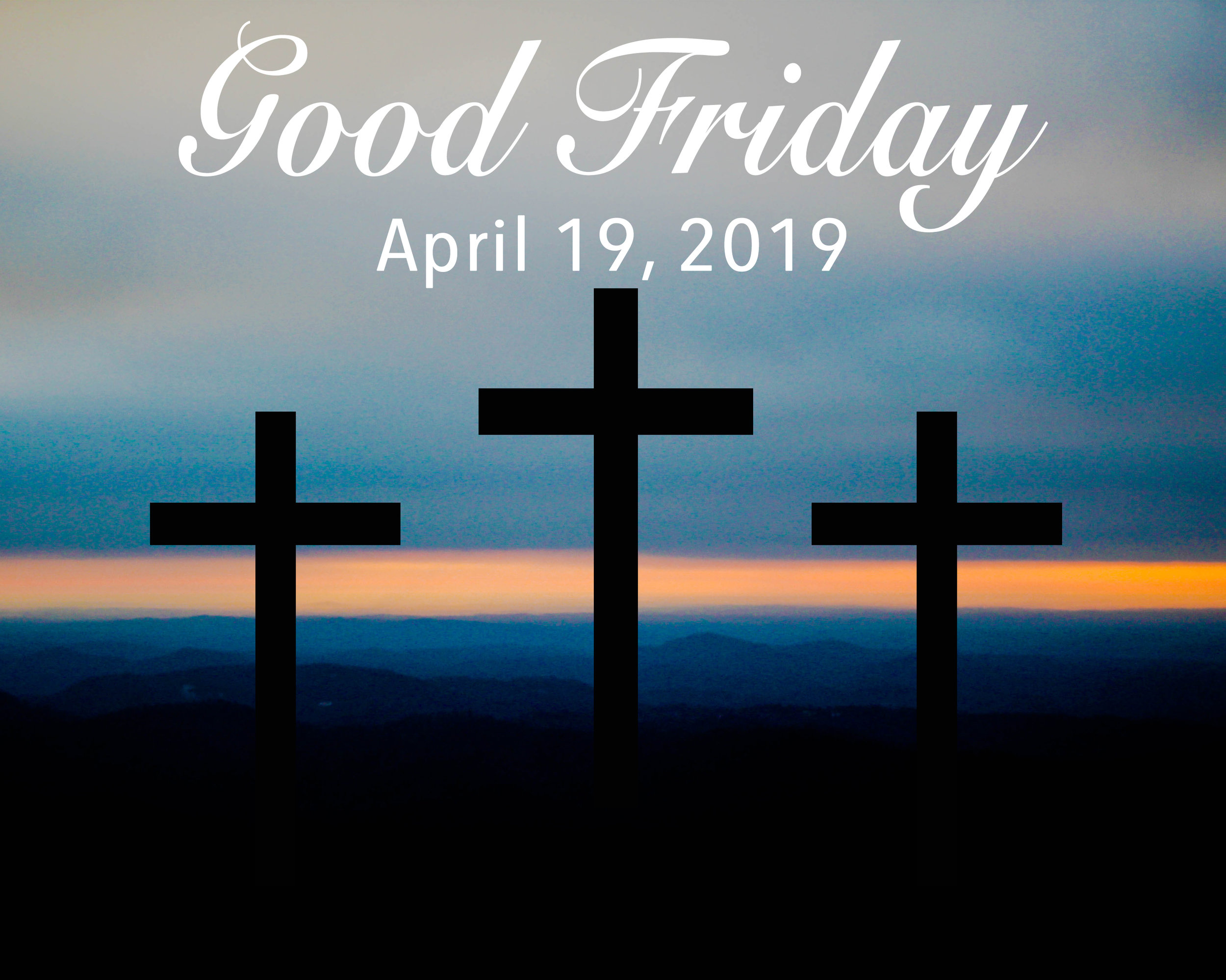 Have a relaxing Good Friday today because there are no classes. However, remember the reason why we celebrate today.