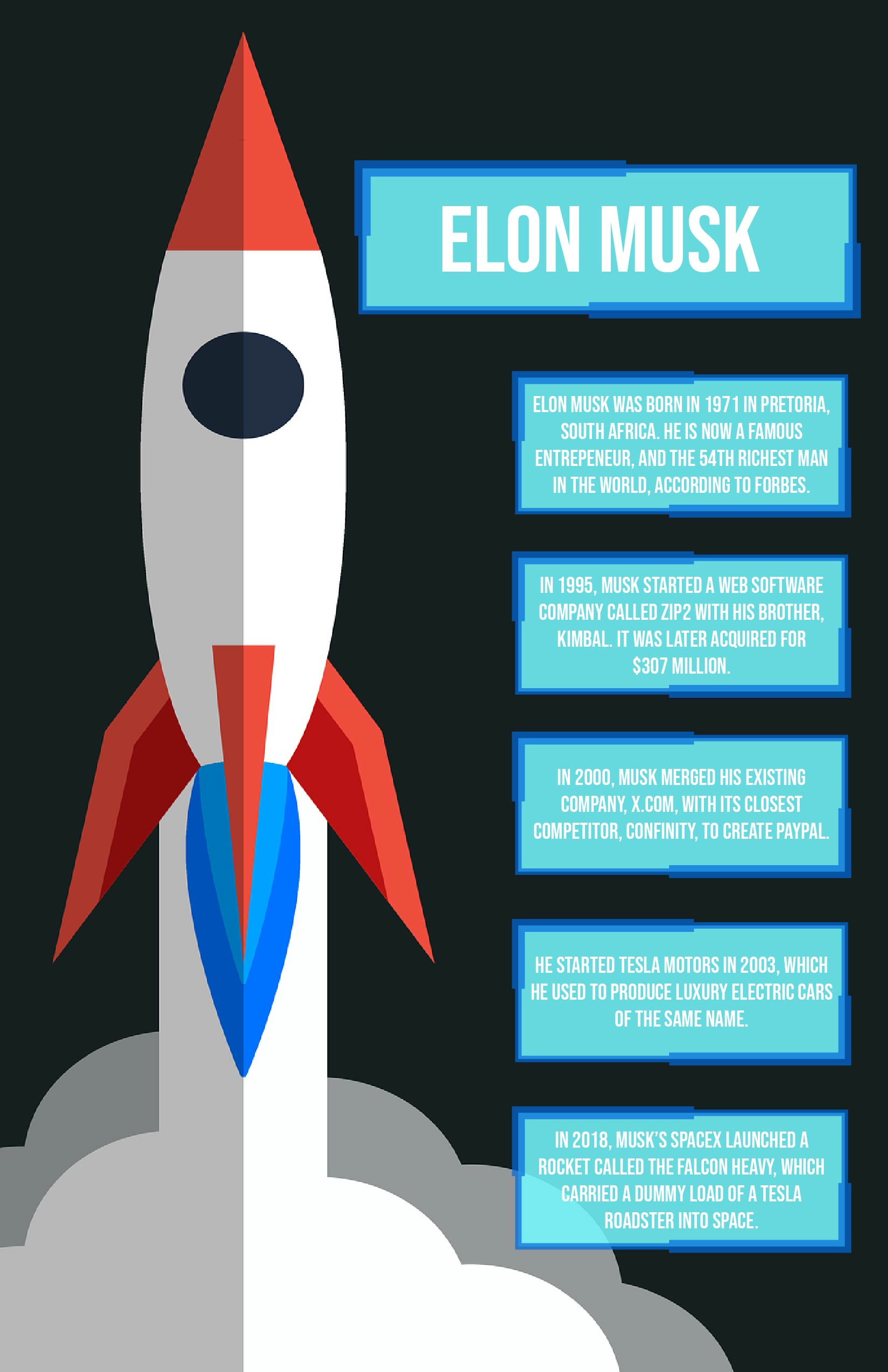 Facts about Elon Musk.