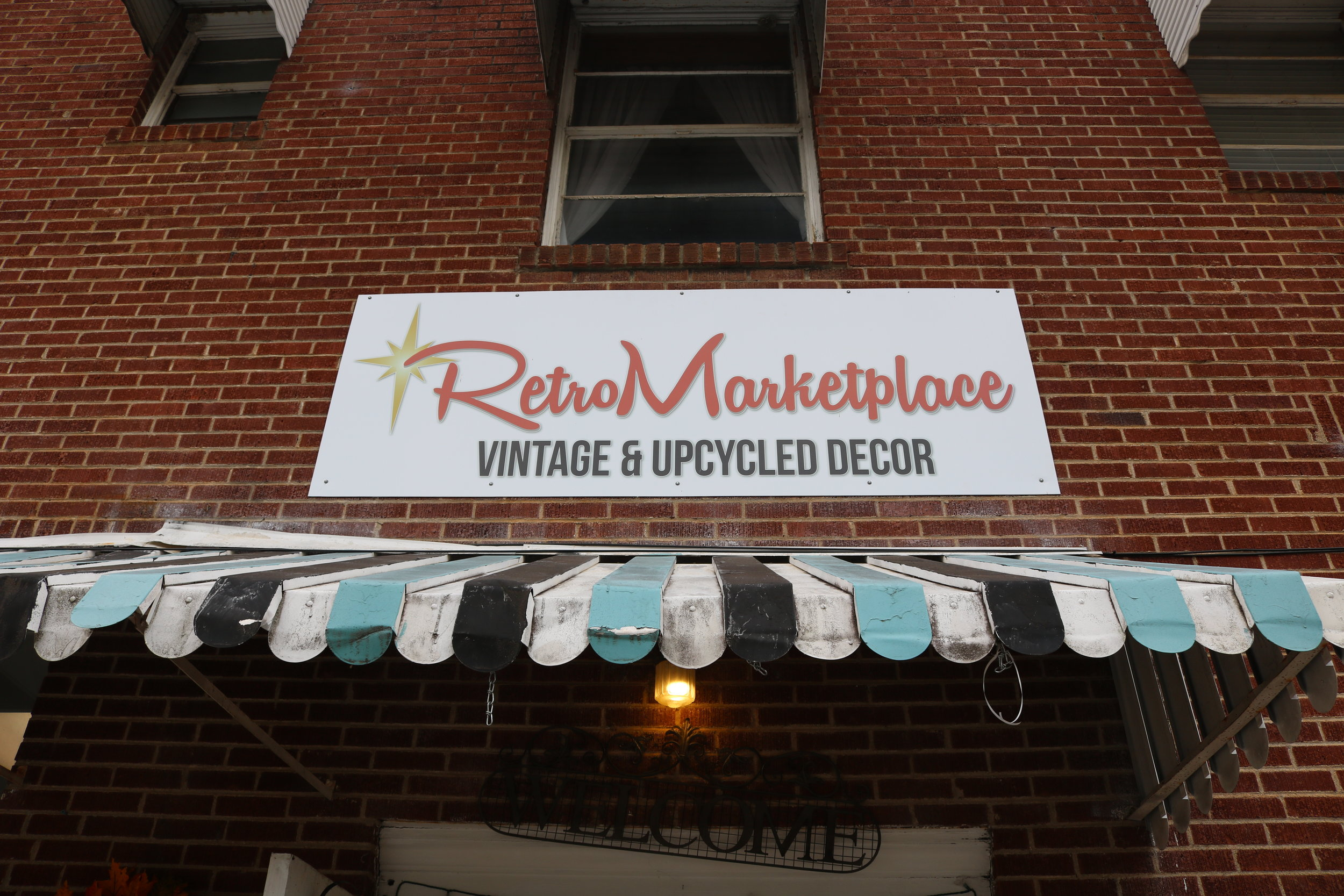 RetroMarketplace Vintage & Upcycled Decor at 128 S. Main St., Travelers Rest, SC.