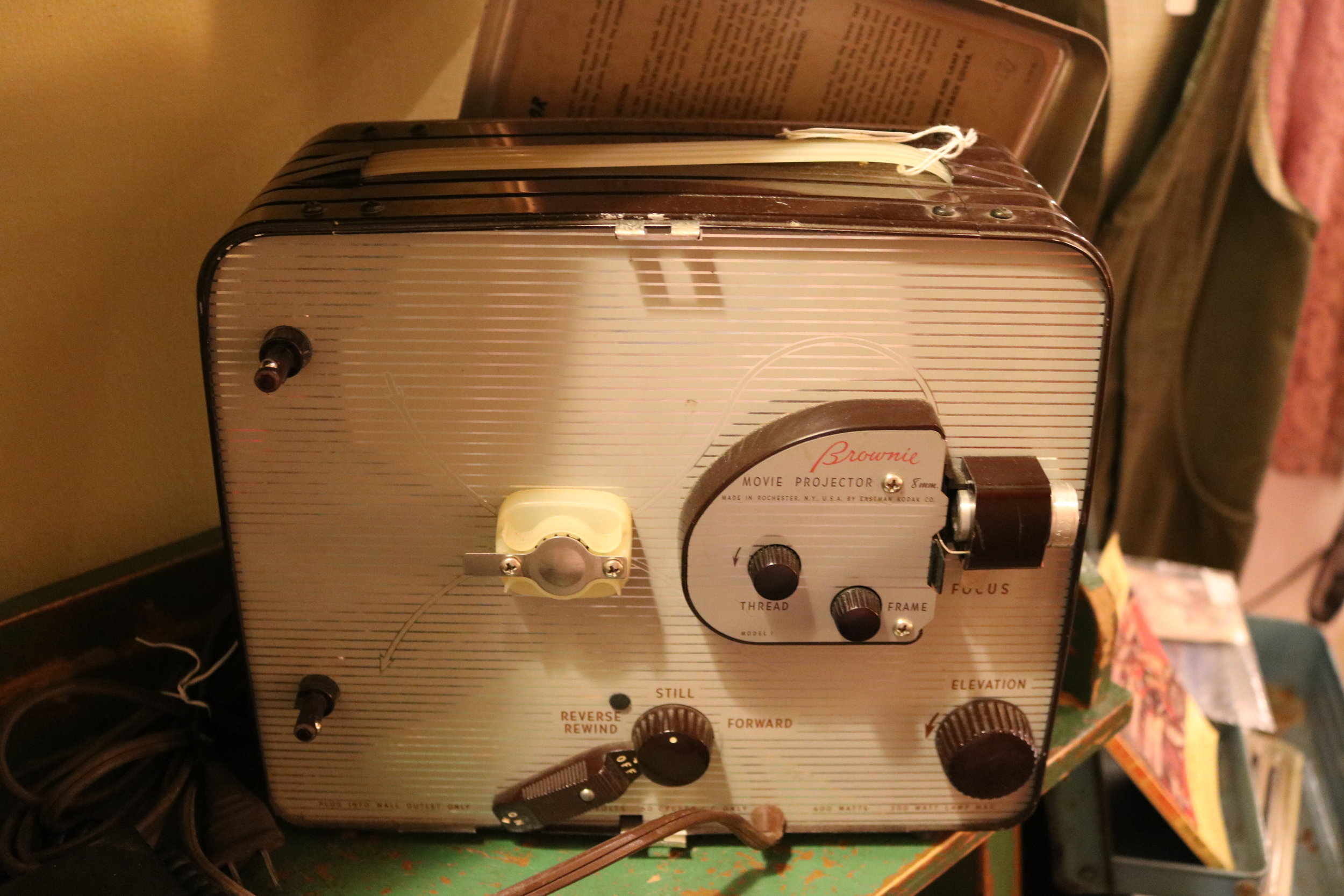 A working 1952 Kodak Brownie 8mm Movie Projector.