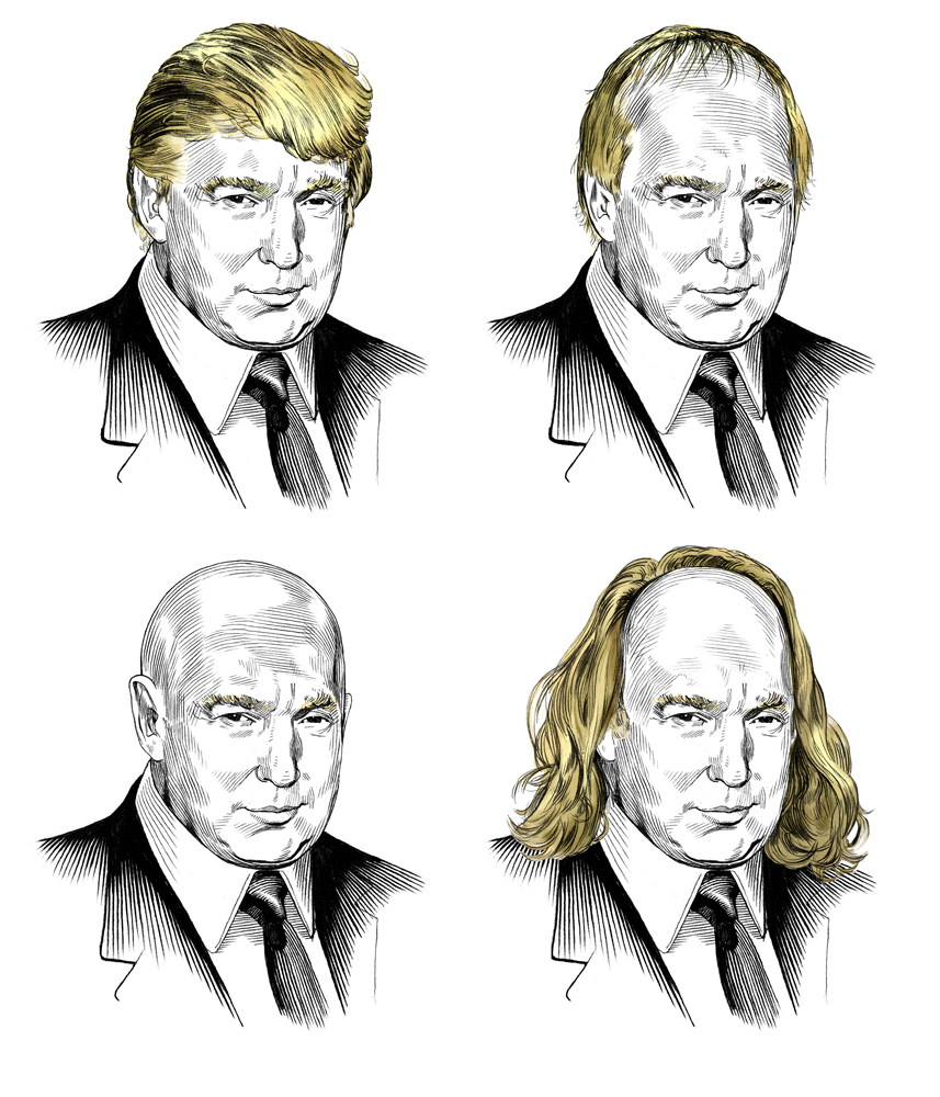 DONALD TRUMP FOUR WAYS   Vanity Fair Magazine