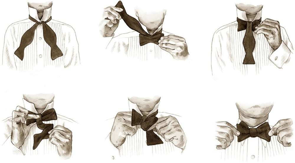 HOW TO TIE A BOWTIE   Esquire's Handbook of Style, Hearst Books