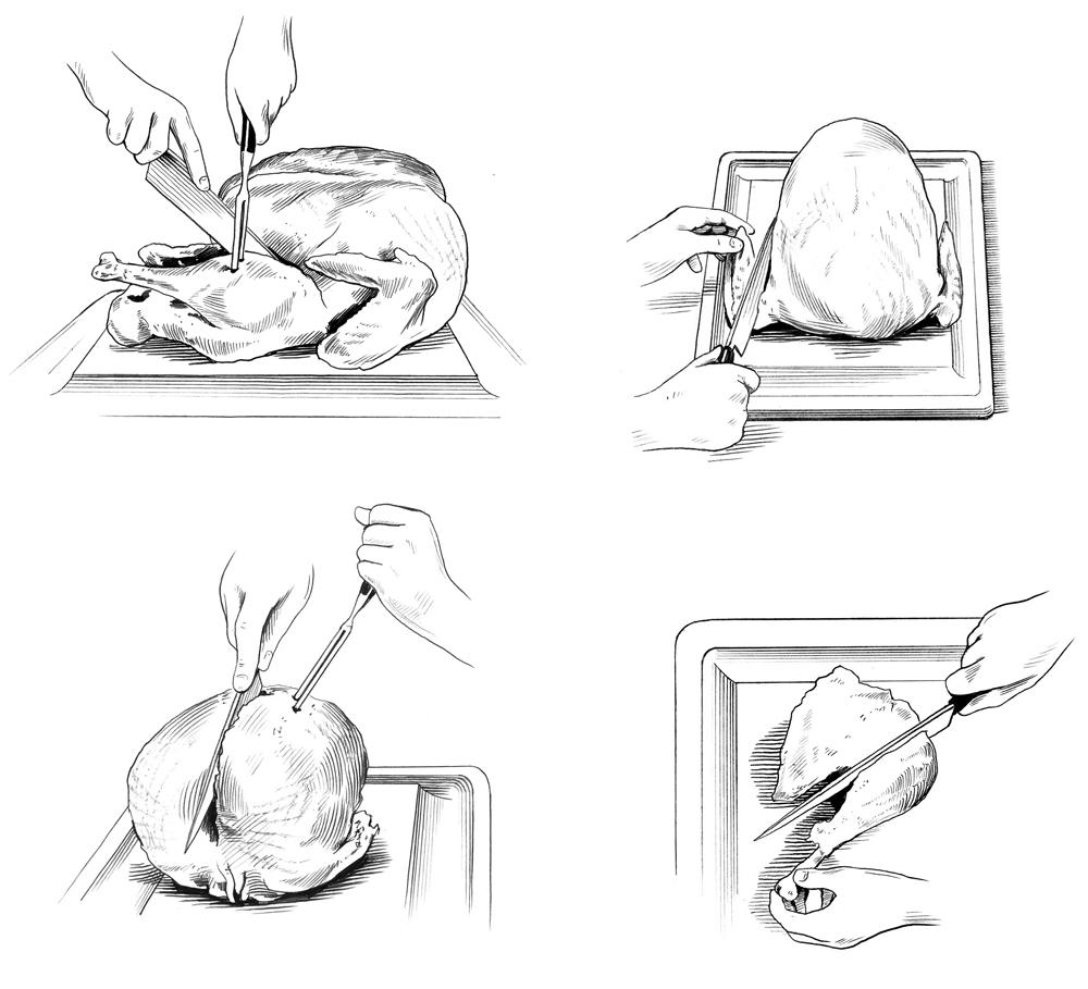 HOW TO CARVE A TURKEY  Bon Appetit