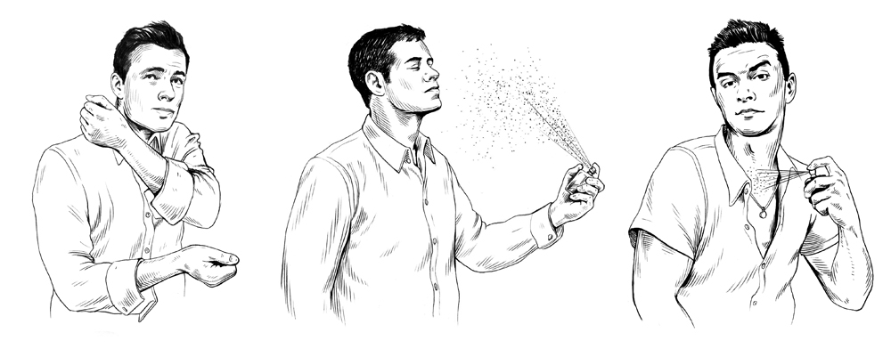 HOW TO APPLY COLOGNE  GQ Magazine