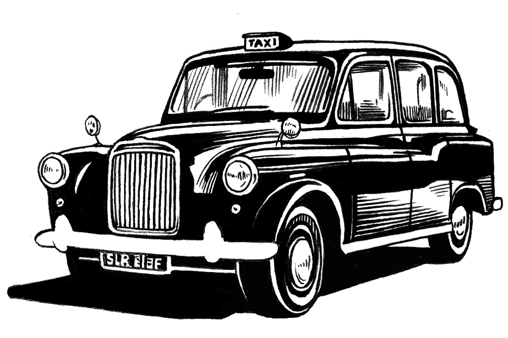 ENGLISH TAXI   Vanity Fair, July 2013