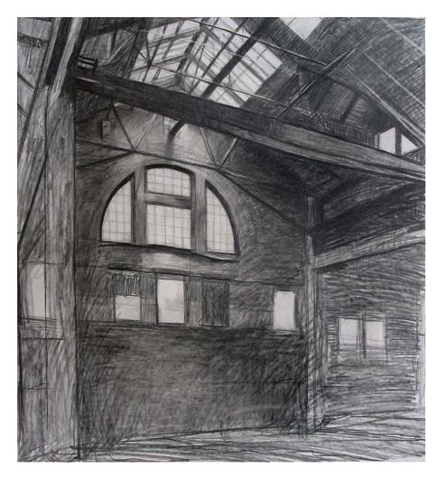 "HARRISON AVE SKETCH  Pencil, 20 x 20"""