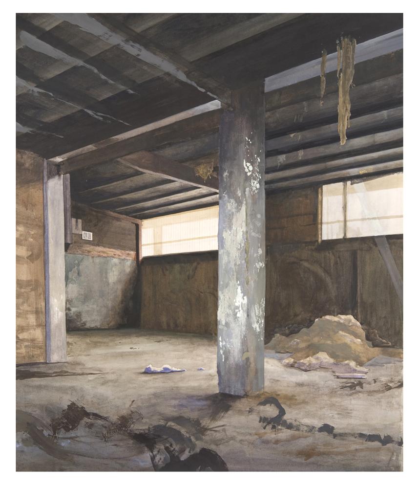 """SOUTH BOSTON INTERIOR  Watercolor and Tempera 40"""" x 50"""""""
