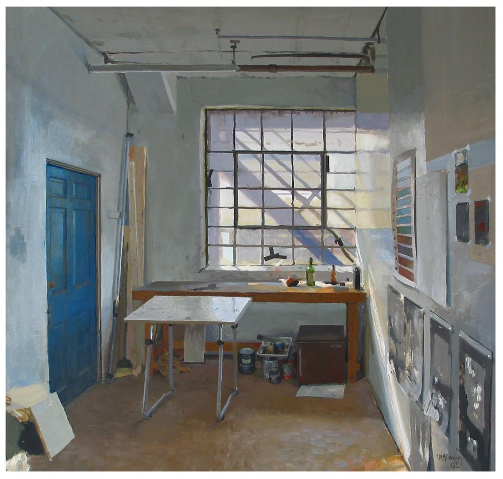 "SOUTH BOSTON STUDIO  Oil 22"" x 22"""