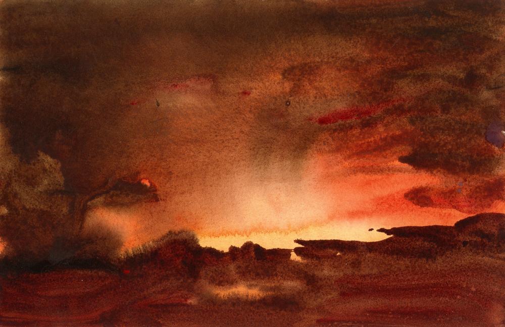 """SKY SKETCH  Watercolor (8"""" x 12"""")"""