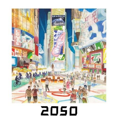 4.  TIMES SQUARE VIEW, 2050 One Times Square (David R. Godine), watercolor, 2011
