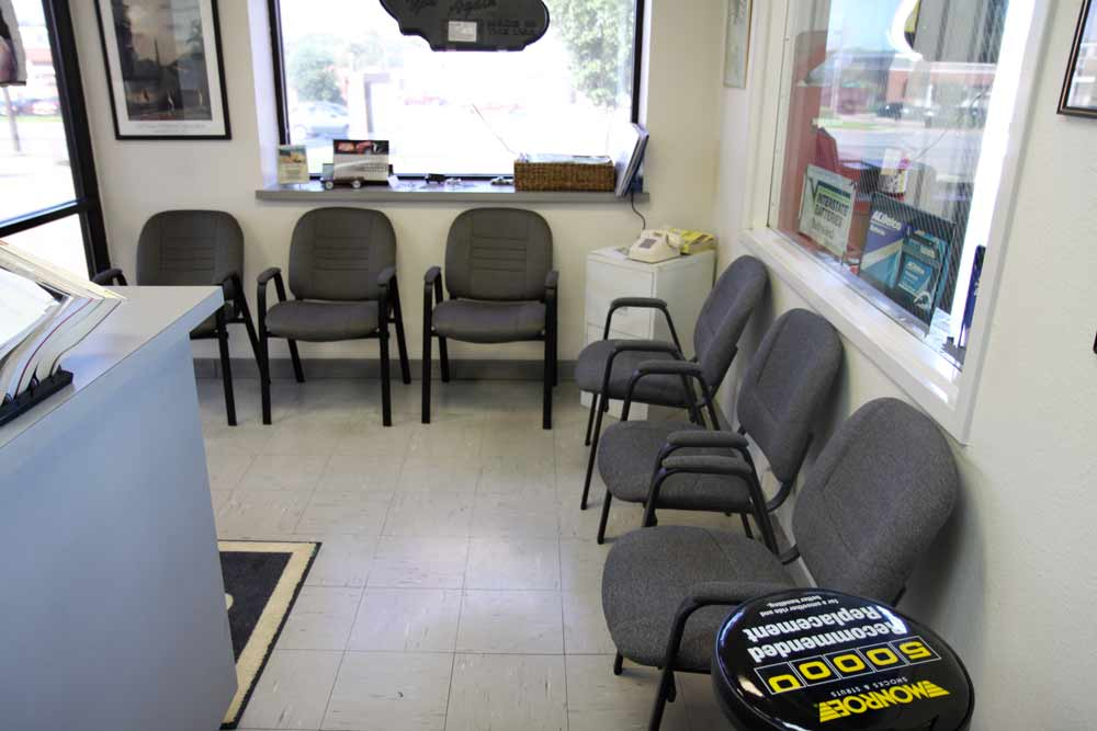 Our auto repair service desk.  This is what you'll see when you visit our office.  Efficient, clean, and straightforward, just like our service.