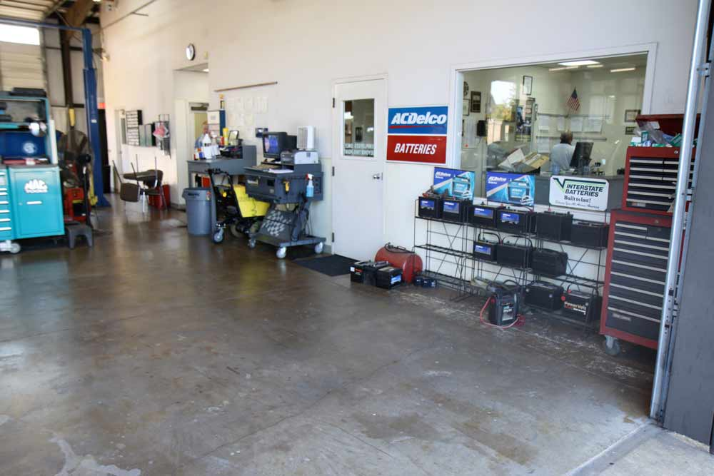 Our lobby looks out to the shop floor. You'll be able to see your vehicle and our work in process.