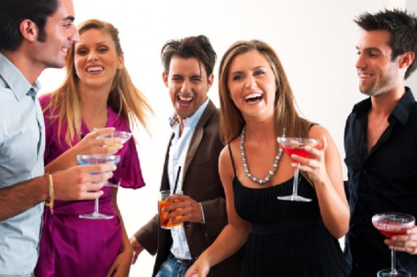 young people at a party