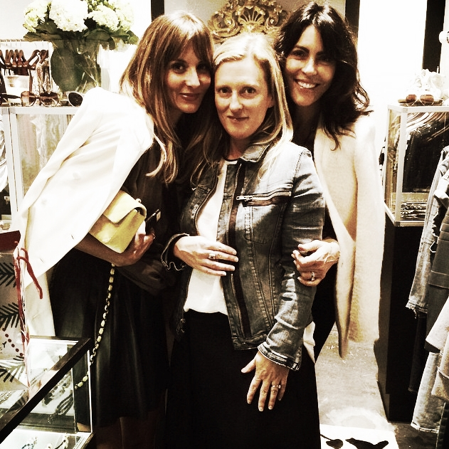 Stylist  Mary Kinney , Elizabeth Charles and Alina de Albergaria at  Elizabeth Charles Boutique