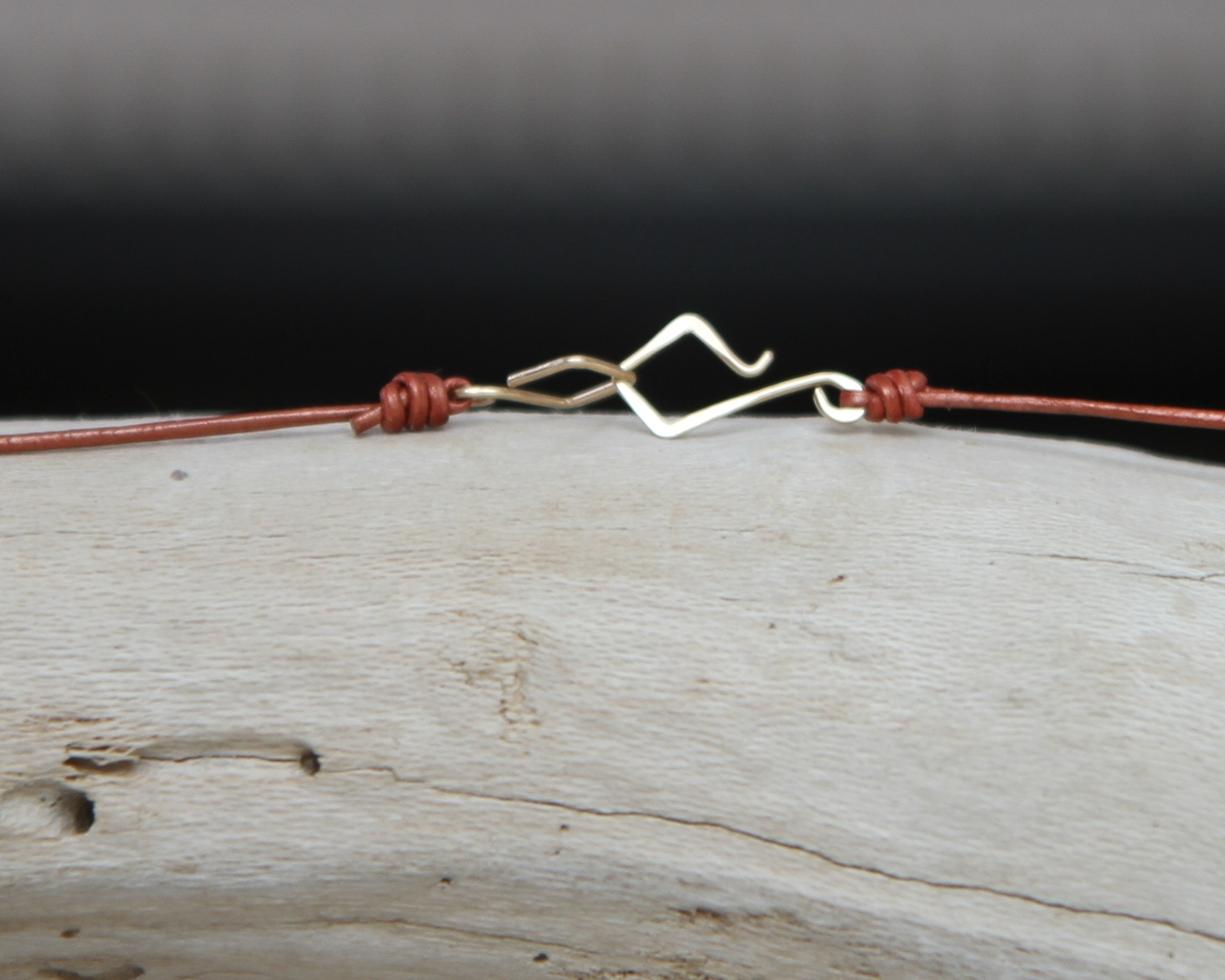 Hand forged minimalist clasp