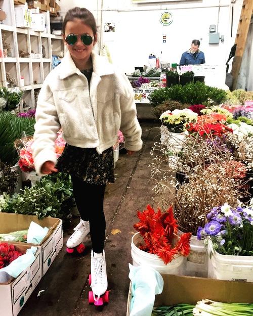 Mamma's little helper at the San Francisco Flower Mart