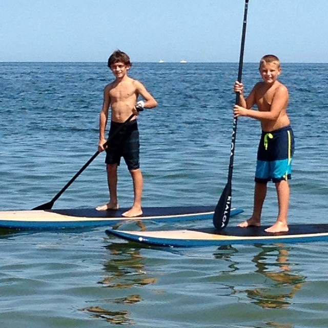 Justin and Brady paddled all day!