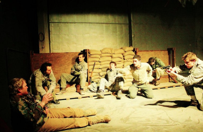 TRENCHES - Trenches debuted at the boom! space in 2012.Trenches is the story of seven soldiers forgotten by their own war.Locked in isolation, the men are caught in a microchasm, causing them to redefine their social structures.