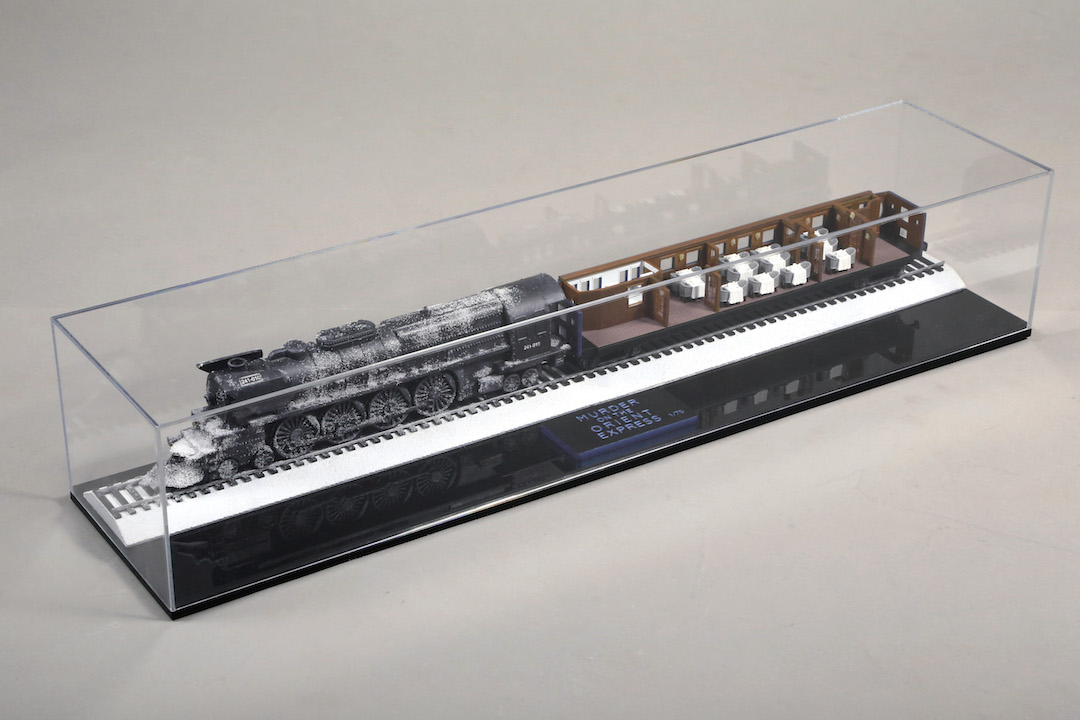 Murder on the Orient Express - We produced 75 highly detailed, miniature replica engines and open train cars mounted in a display case used as sweepstakes prizes and production member gifts for the film.