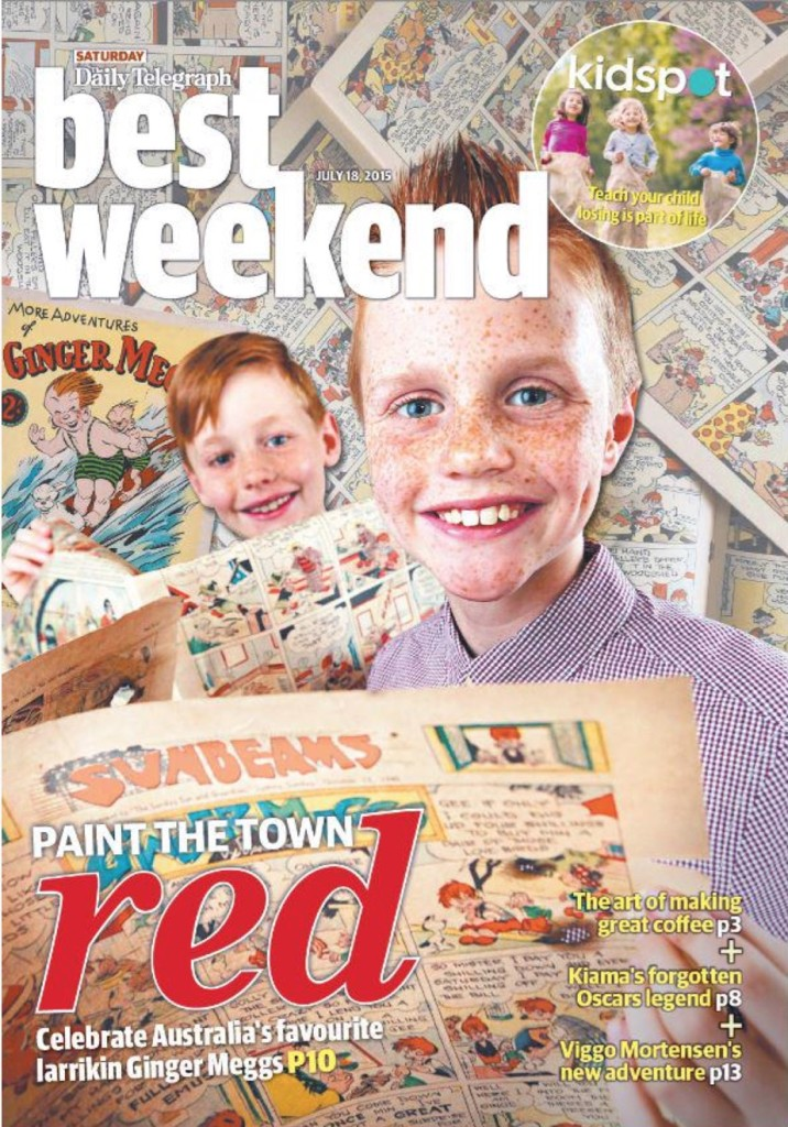 Front Page of Today's Best Weekend section of the Daily Telegraph (CLICK TO READ ARTICLE)