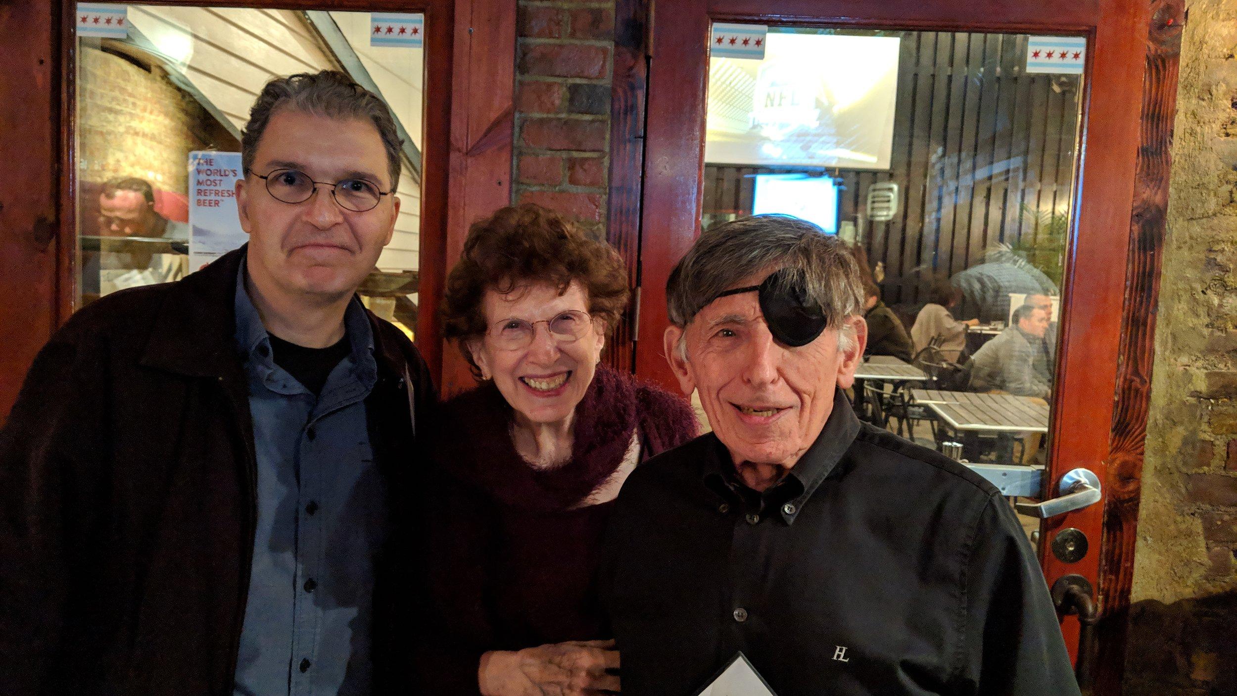 L-R Joe Dator, Judith and Mort Gerberg