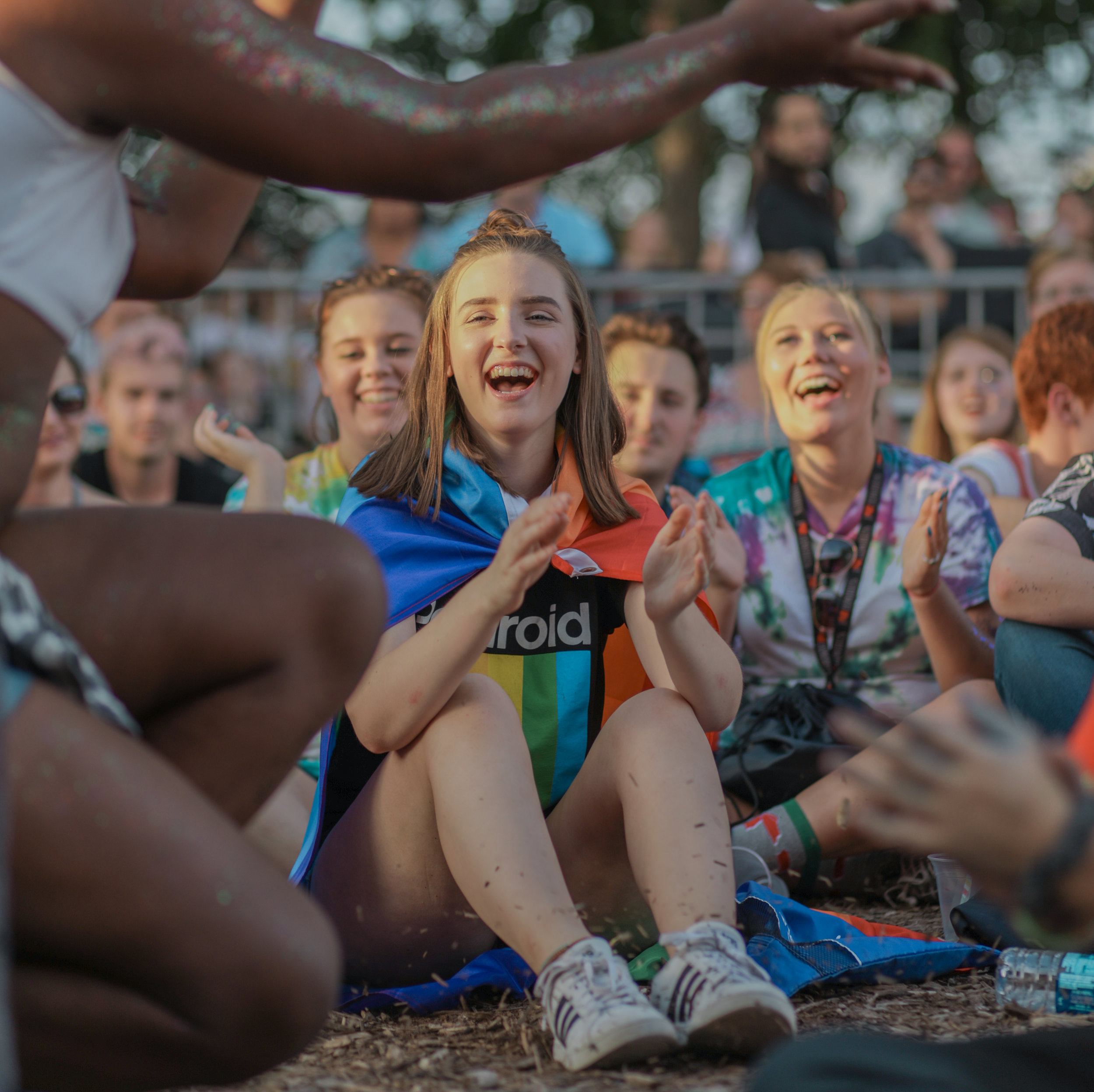 Attendees of the MidMO PrideFest watch drag performer Black Icing perfrom on Saturday, August 25, 2018 at Rose Music Hall.