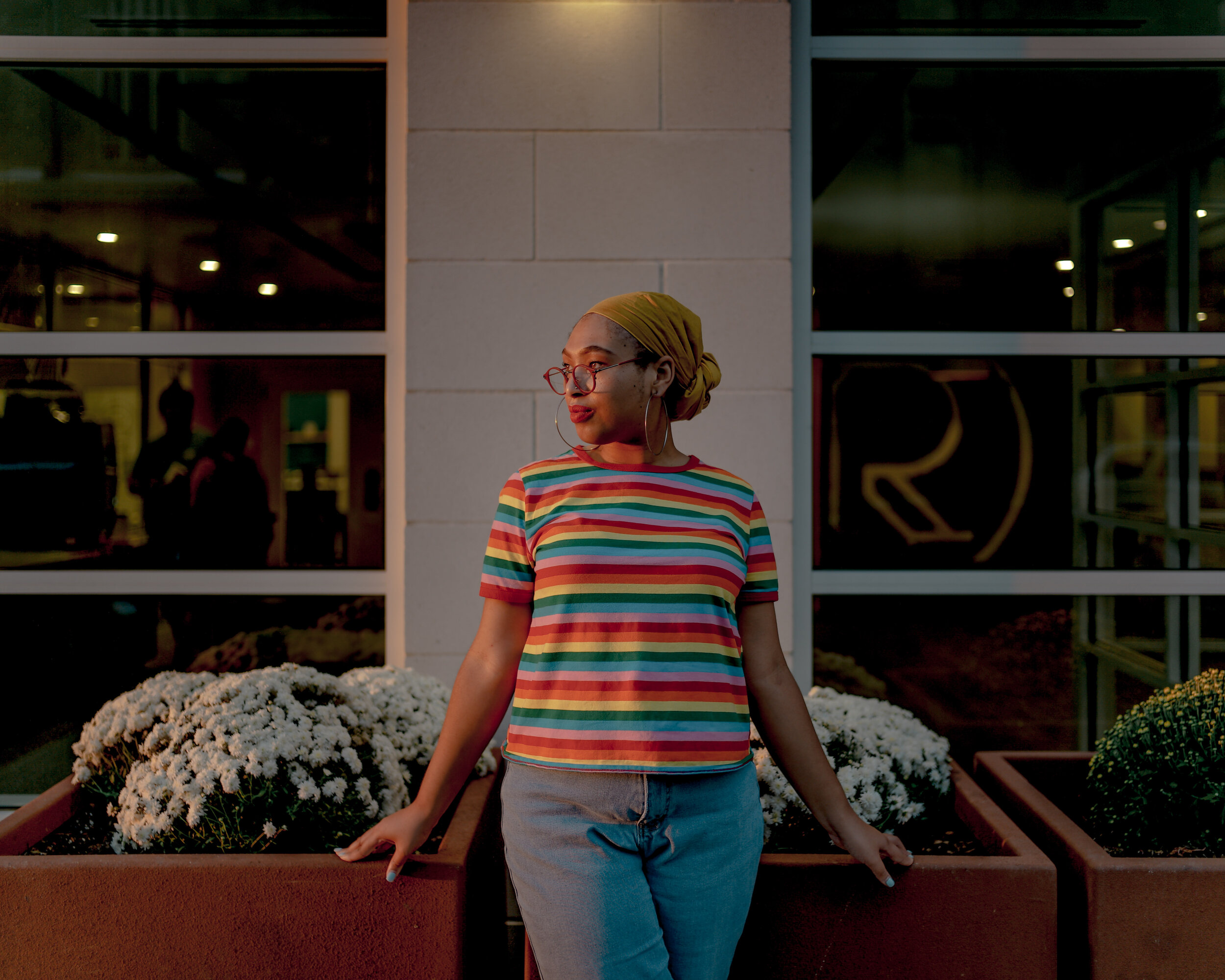 "Sage Wallace-Williams says she uses her personal style to express herself. ""When I'm not dressed colorfully I feel really down in the dumps,"" she noted."