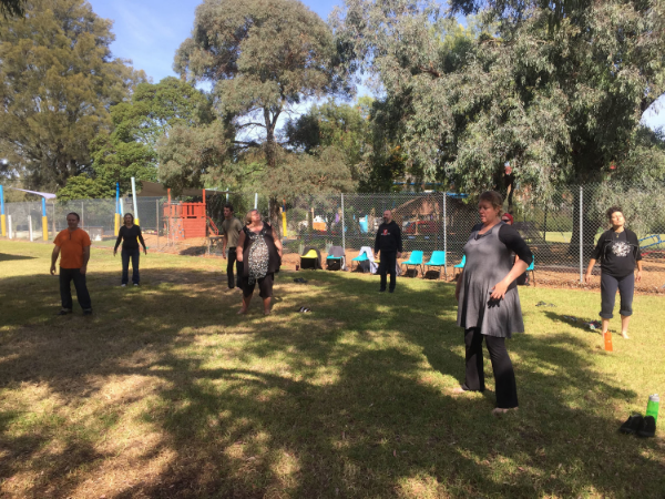Monthly Chi Kung Class, North Coburg, Melbourne, Victoria. Students enjoying gentle Chi Flow during the workshop.