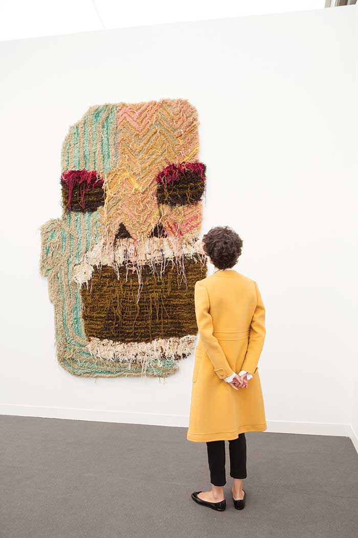 Material world: Caroline Achaintre's   Befor  , 2013. Image courtesy The Art Newspaper.