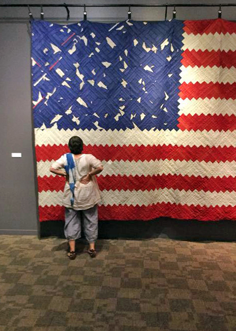 Checking out  [The American Context #5] Flag . Image courtesy of Kathy Doughty at   Material Obsession .