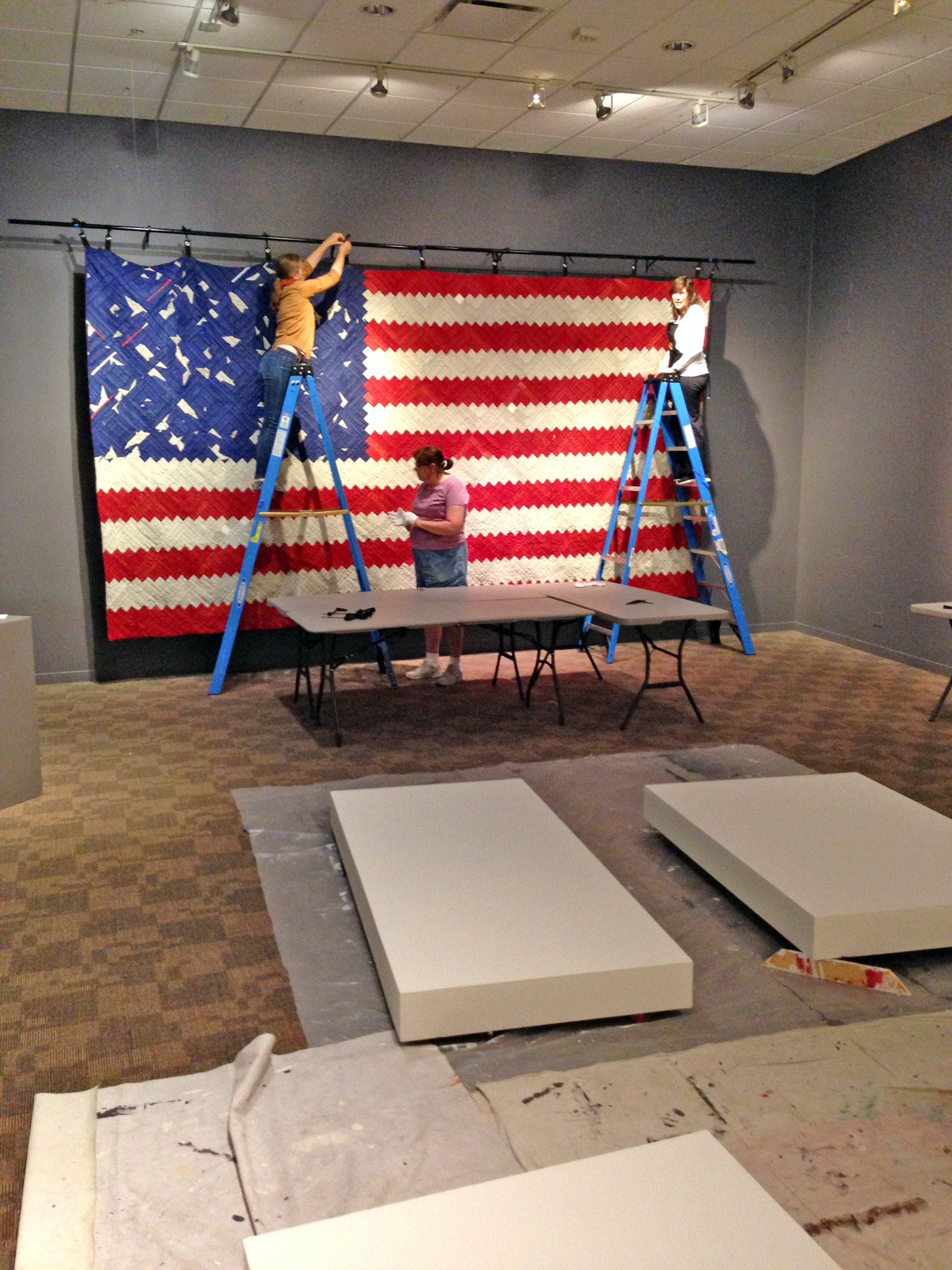Luke Haynes' nearly 17 foot long  [The American Context #5] Flag