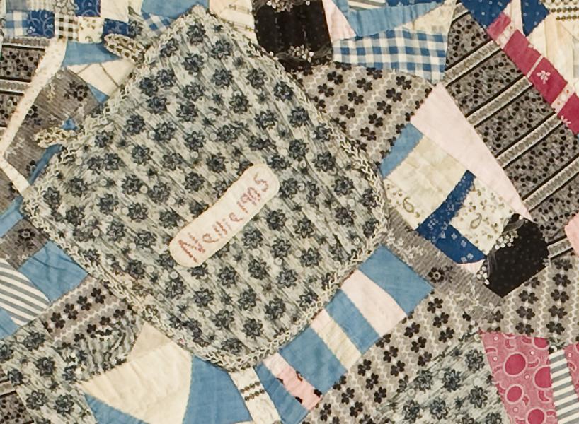 Crib Quilt, Nellie detail