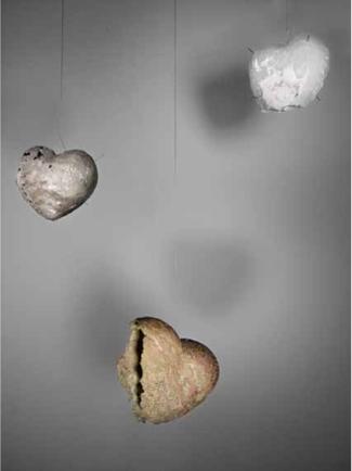 Broken Souls   Messing, Silber, Glas   300x180x110cm   2011