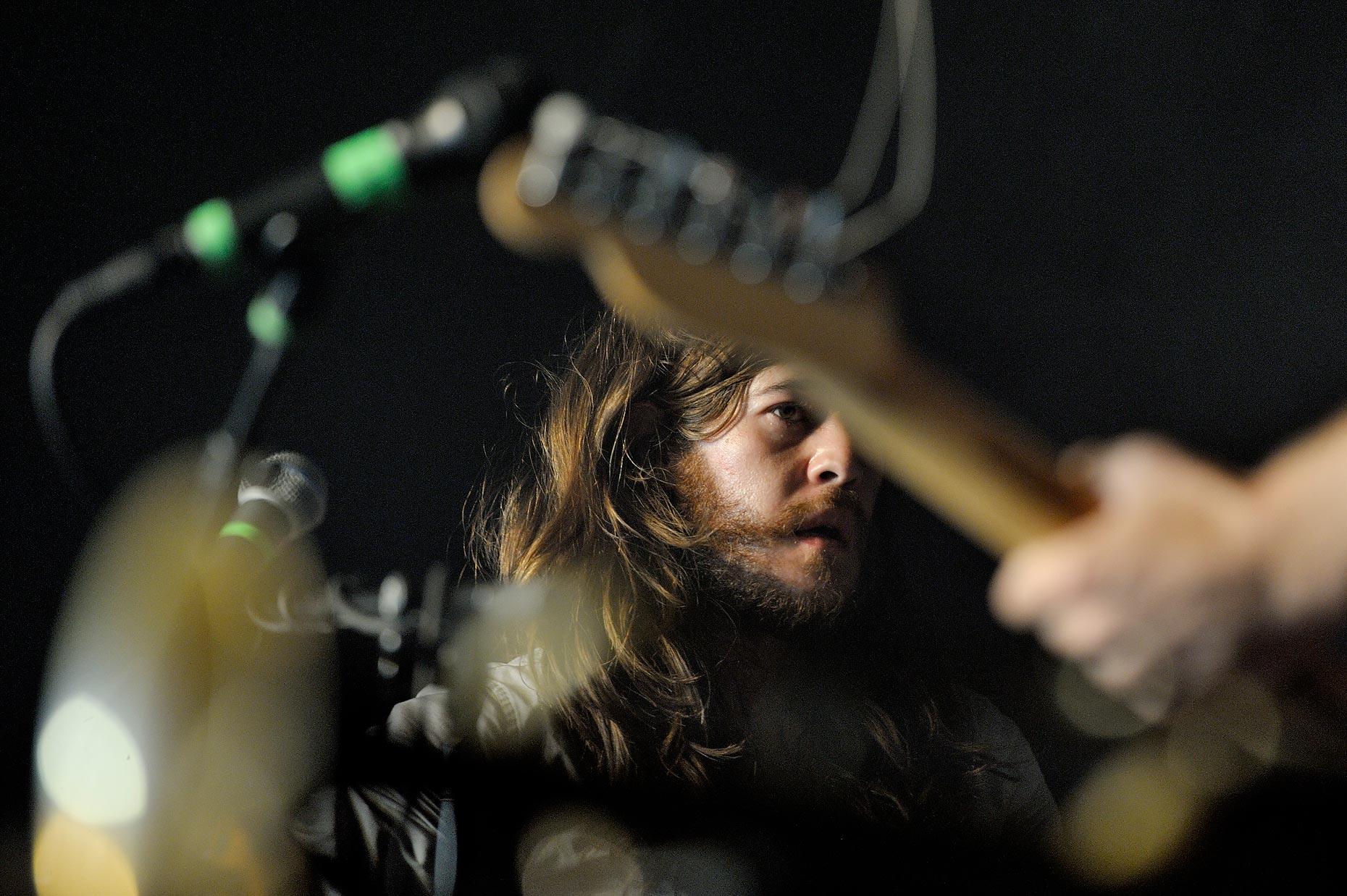 Le groupe Other Lifes au Badbonn Kilbi festival, Düdingen, le 2 juin 2012. Bertrand Cottet/Strates.