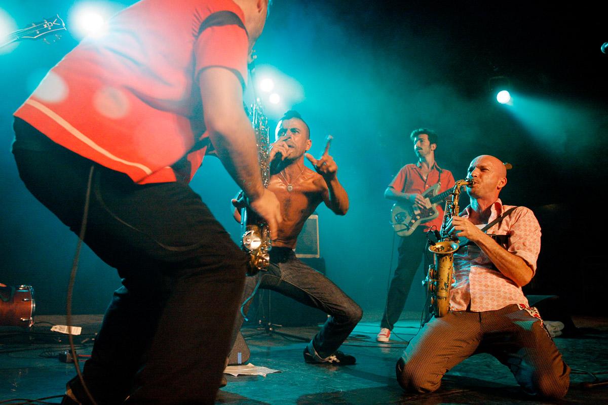 Balkan Beat Box en concert au Paléo Festival, Nyon, Suisse, le 22 juillet 2006