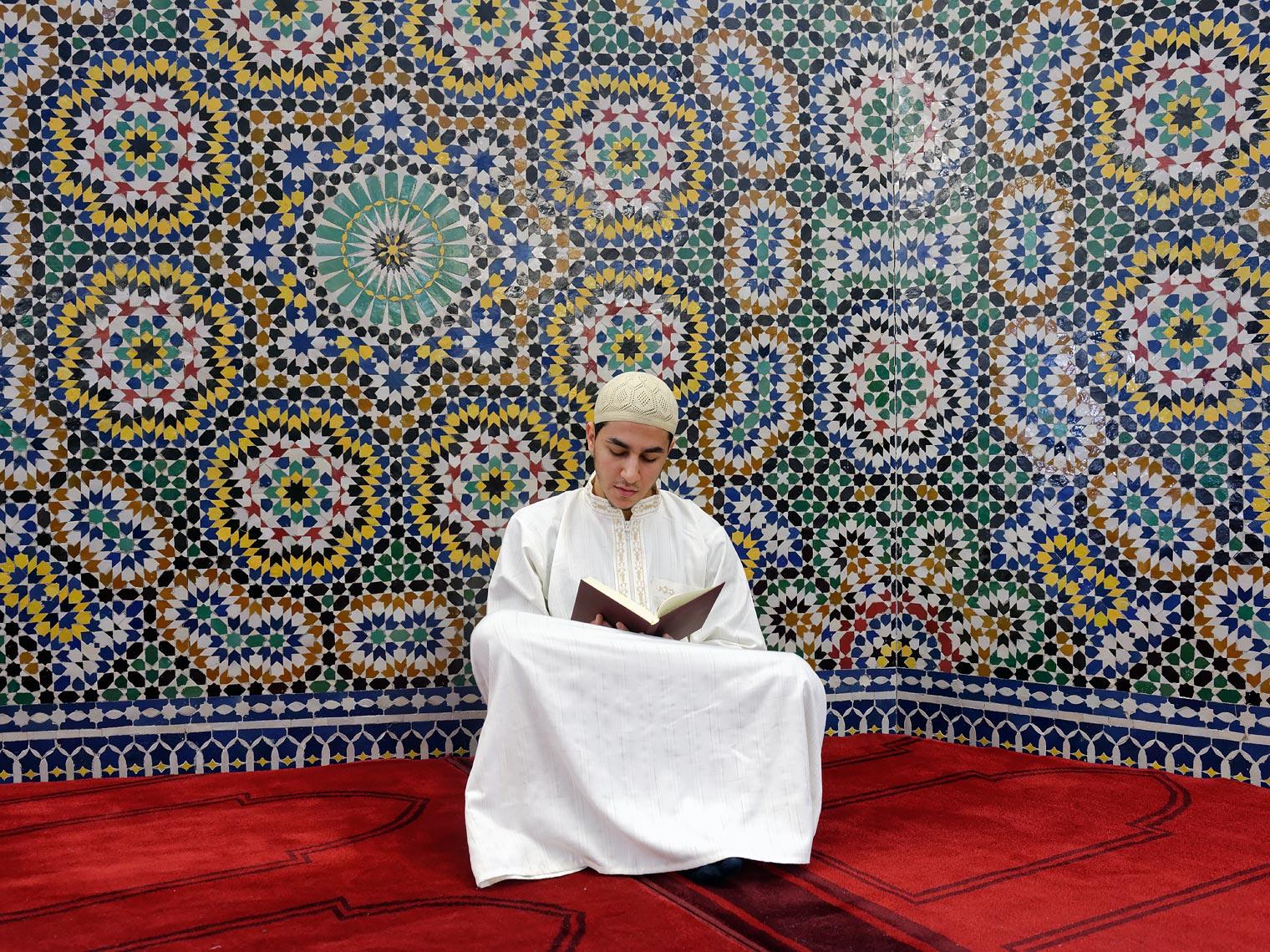Karim Boujouala à la Grande Mosquée de Genève.