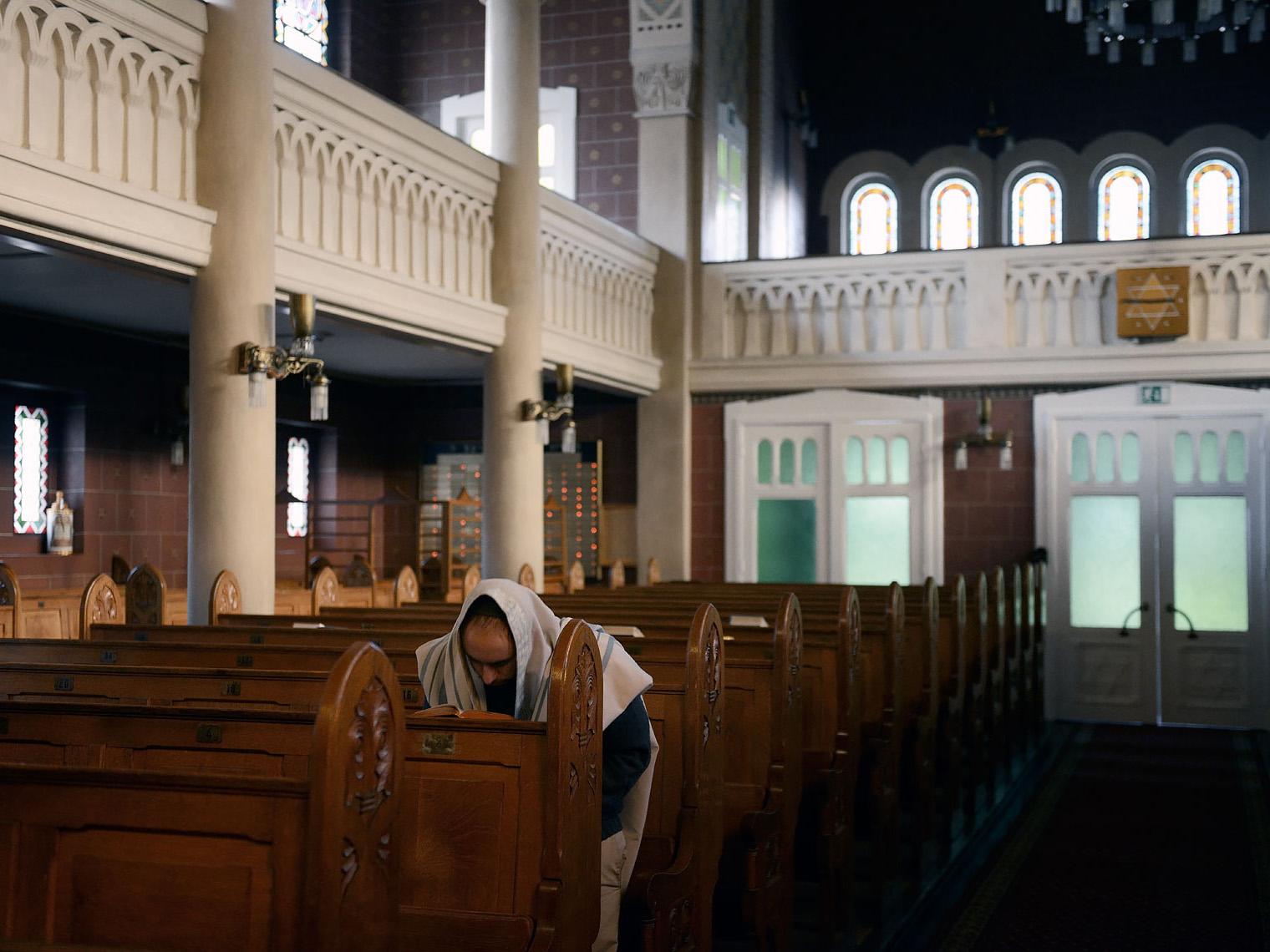 Julien Pellet à la Synagogue de Lausanne.