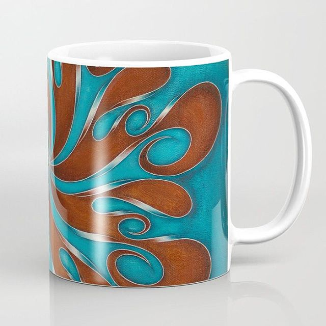 MUG: Revolver No, 5. Available in 11oz and 15oz options from #Society6. Try this link  https://buff.ly/2NQJi4g or in Bio   Society6⠀ ⠀ #drinkware #tea #coffee #cups #tableware #creative #artoftheday #merch #merchandice #artistic #paintings #abstractart #artanddesign #design #pattern #lines #ribbonart #ribbonpainting #swirl #psychedelic #hypnotic #trance #mandala #carousel #tribal #fluidgeometry #calligraphy #instagood #instaart