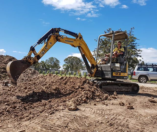 Two Days, Two Machines, Two Operators and 47 ton of hard clay removed before we can even start at this new job, the ripper tooth is looking a little more worn than it did at the start! #getitdoneson ⛰ 👈 #landscapersaustralia #yanmar #digginholes #loveeastgippsland #weloveourjob #buildinggardens #landscaping #exteriordesign #lovewhatyoudo #australia #landscaping #machineoperatorsaus #landscapers_of_instagram #earthmoving #machineoperator #trade #lovethesmellofdieselinthemorning