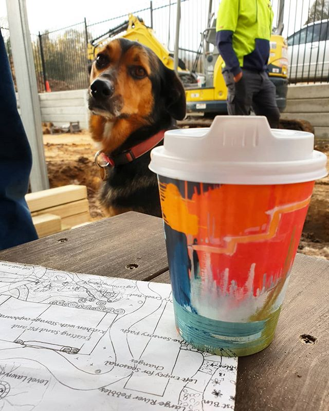 At a frosty 1° celcius this morning worksite doggo is unimpressed! 😂 #loveeastgippsland #workthings #worksitedoggo #dogsofinstagram #landscapers_of_instagram #landscaping #exteriordesign #outdoorliving #kindergarten #omeoregion #lovewhatyoudo #australia #omeo