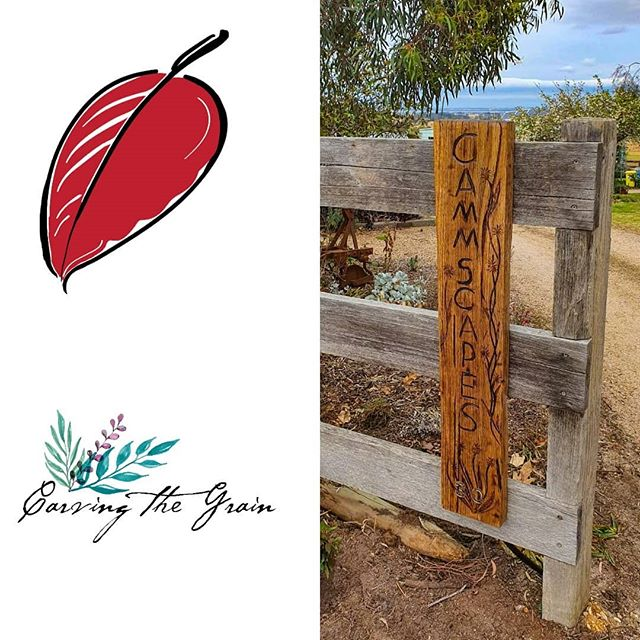 Check out we knocked up with Carving the Grain! Just love this rustic entrance sign 🙌 💕  #carvingthegrainaustralia #woodcarving #landscapedesign #entrance #exteriordesign #lovelocal