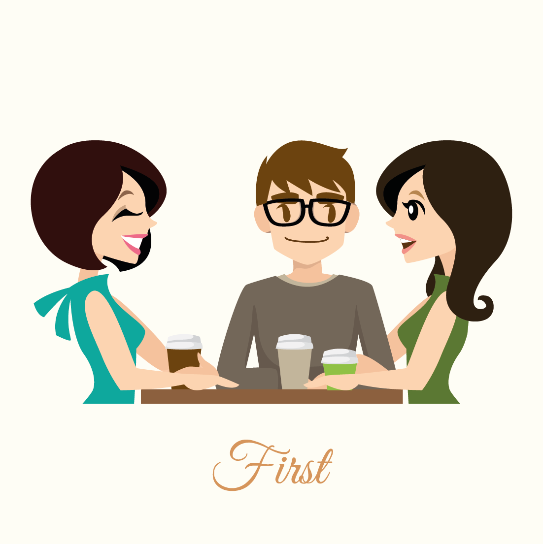 Coffee date   (complimentary as always)  We line up a coffee date, so that the three of us can get to know each other better. Here I'll be looking to uncover your personalities; find out about your likes and dislikes - and what ingredients might make your perfect day. Of course, our date will also give you both the opportunity to ask questions until your hearts are content.