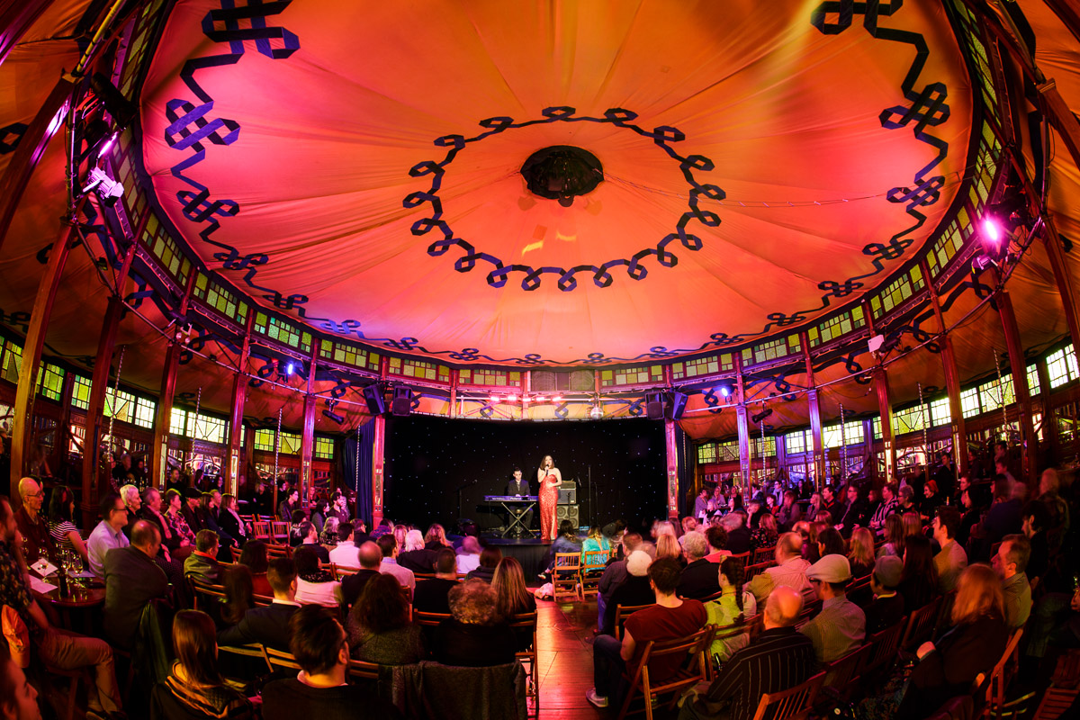 Ned Dixon and Alice Tovey in the Spiegeltent_2015 MCF_pic by JTP_web.jpg