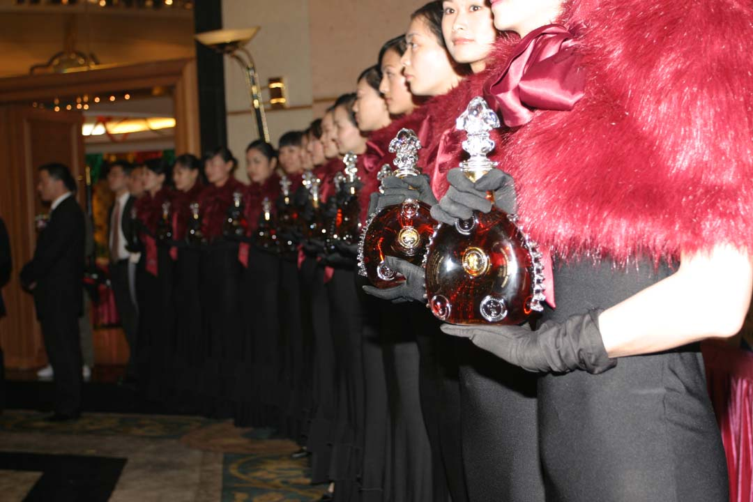 LOUIS XIII Wedding Banquet  Shenzhen  The most luxurious  LOUIS XIII wedding banquet ever held in China was organized by EEDC. During this one and only luxury banquet, over 100 bottles of LOUIS XIII were consumed during the wedding.