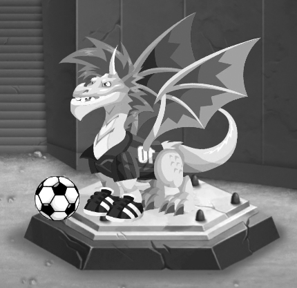 "The ""soccer"" ""dragon"" in Dragon City."