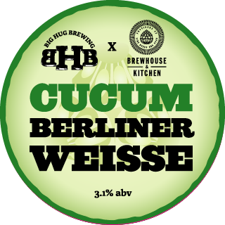 Cucumberliner Weisse 3.1% - The winning recipe from our brewers competition with Brewhouse and Kitchen. A light, refreshing, aromatic and quaffable Berliner made with real cucumber's and finishing with just a feint sourness