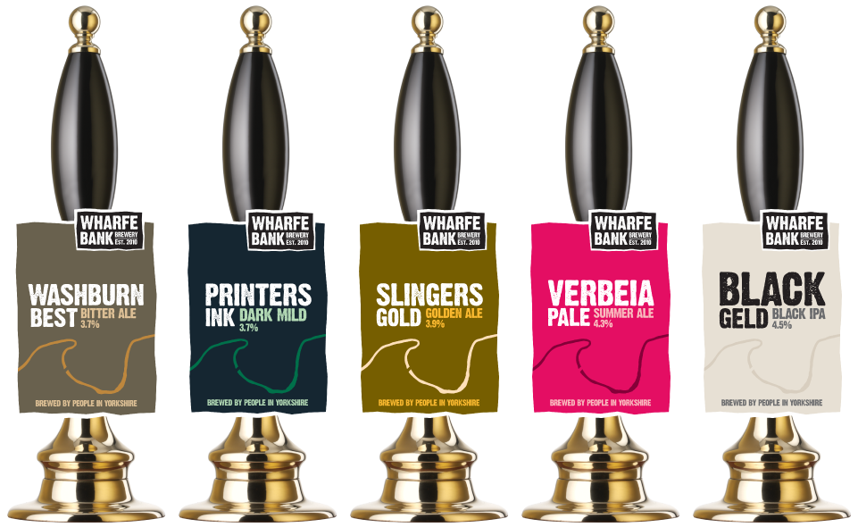Wharfe Bank Brewery Pump Clip Design by AD Profile