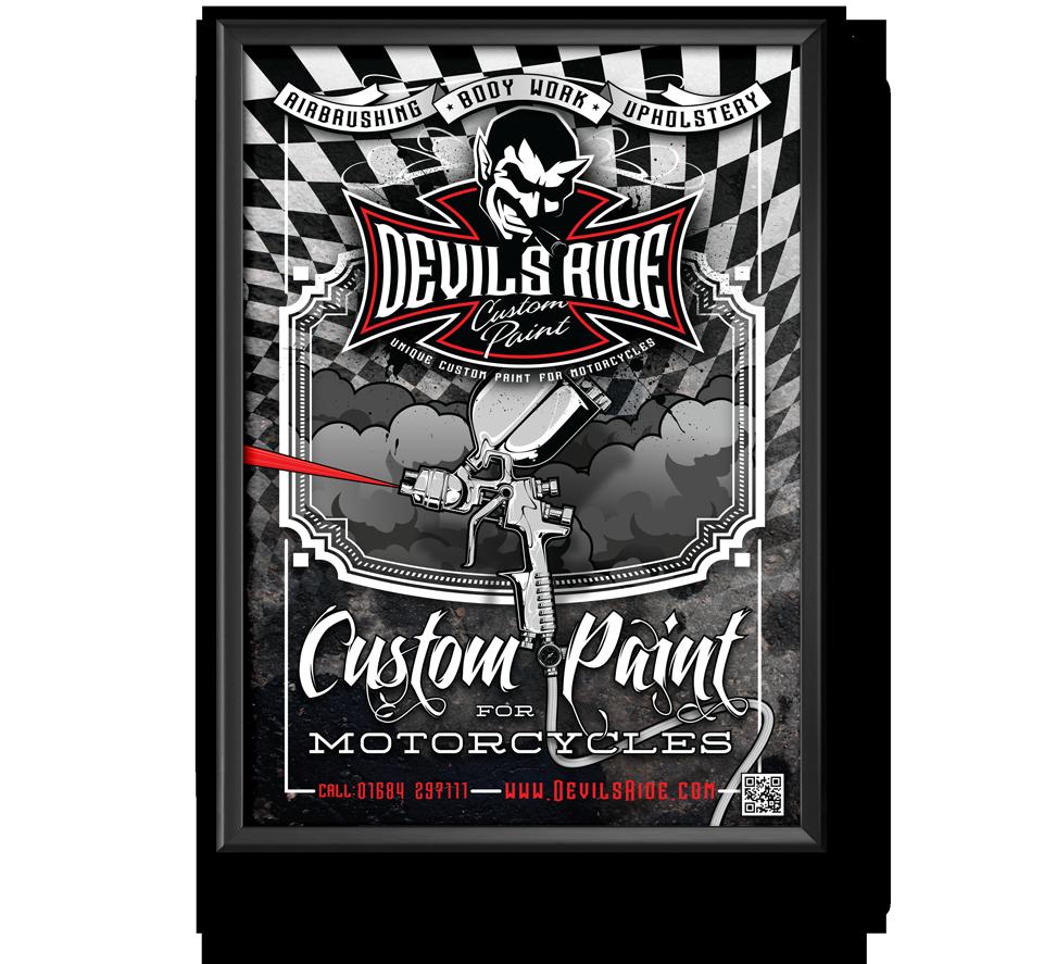 Devils Ride Poster Design by AD Profile