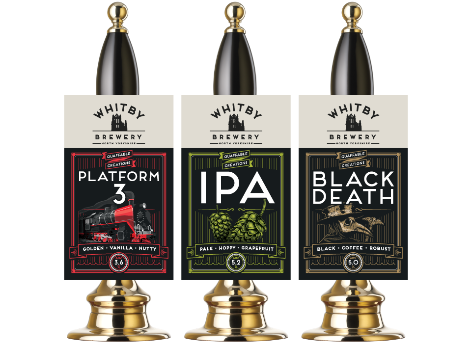 Whitby Brewery Pump Clips by AD Profile Graphic Design